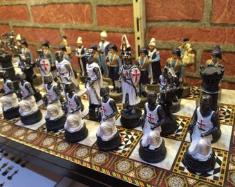 hand made old ages chess