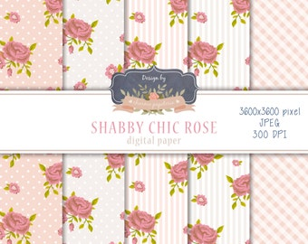SALE Shabby Chic digital paper pack