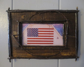 Adirondack  Rustic Wood Frame