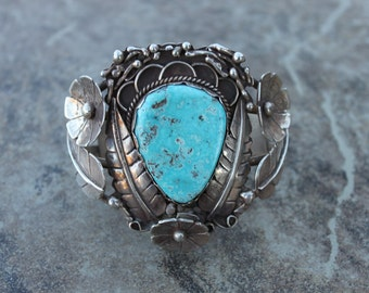 Vintage Old Pawn Turquoise Cuff