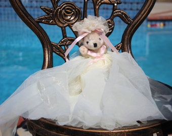 Vintage Bear With Handmade Tulle Dress