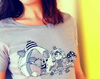 FREE SHIPPING - Womens Graphic Tshirt Queen Tshirt Womens Screen Printed Tee Shirt - Womens Crew Neck Tee - Womens Gray Tee - Story Tshirt