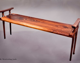 Sculpted Bench with Handles
