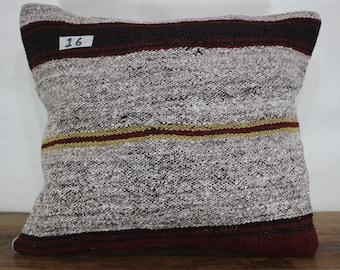 15x18 Turkish Kilim Cushion Cover,Pillow,Kilim Pillow Case Sofa Pillow,Bohemian Pillow Decorative Pillow,Tribal Pillow SP4040-16