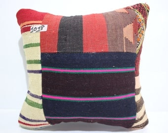 free shipping kilim pillow 16x16 kilim cushion cover vintage patchwork kilim pillow throw pillow cushion cover patchwork cushion SP4040-1018