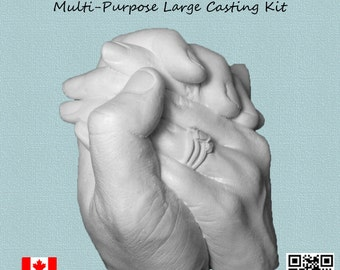 Life-casting Large Casting kit for couples holding hands, or siblings, wedding keepsake, engagement keepsake, or for aging parent keepsake