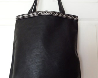 Women's Shoulder Bag with PU Leather
