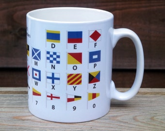 Nautical Flags International Alphabet and Numbers Educational Mug