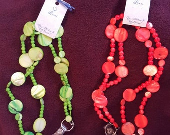 Coral or Lime Green Lanyard
