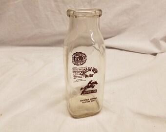 Norwich University milk bottle by College view dairy Northfield Vermont.