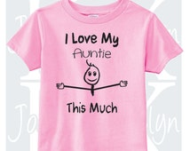 I Love My Auntie This Much custom body suit one piece bodysuit onepiece personalized baby shower gift godmother grandma funny toddler 3t 4t