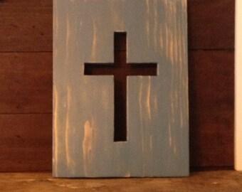 Wood Cross, Wall Art, Rustic Home Décor, Vintage