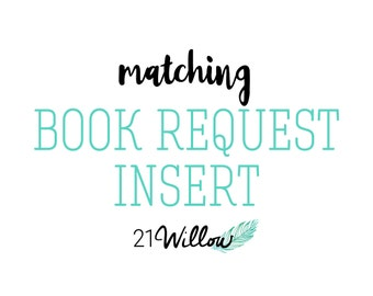 Matching Book Request Insert, Book Request Card Add-On