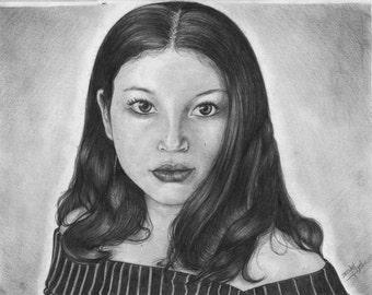 "Custom Portrait from Photograph (9""x12"")"