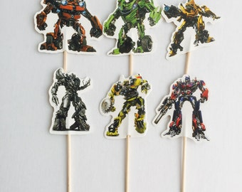 12pcs Transformers Cupcake Topper Picks. Food Picks