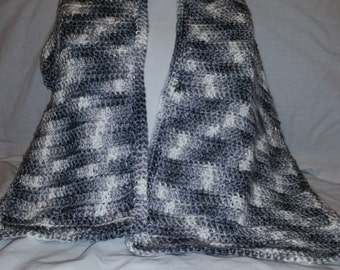 Grey and White Scarf set