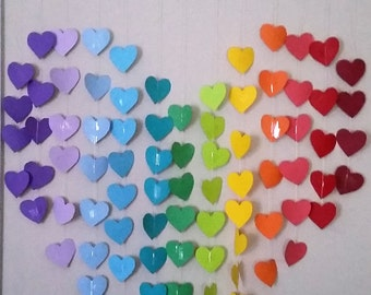 Hanging Wall Rainbow Heart