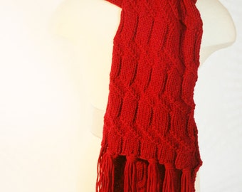 Cranberry Red Scarf
