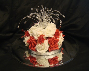 a  crystal rose babies breath wedding table decoration  all occasions