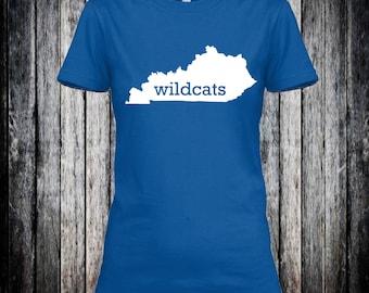 Kentucky Wildcats UK BBN Cats soft blue and white tshirt