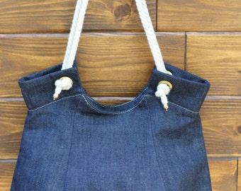 Beach Denim Shoulder Bag