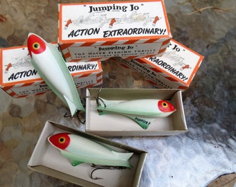 """Fishing Lure - Antique Old Stock 1950's """"Jumping Jo""""  - Excellent Condition"""