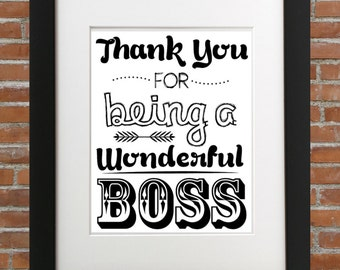 Thank You For Being A Wonderful Boss, For Your Boss Gifts, Boss Gift, Gifts For Your Boss, Gift Ideas For Boss, Gifts For Bosses, Boss Gift