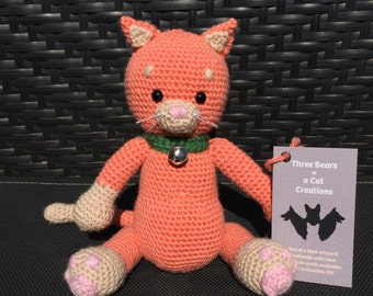 Crocheted Kitty Cat Stuffed Animal