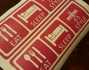 Eat Sleep Style Sticker
