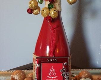 holiday photo bottle