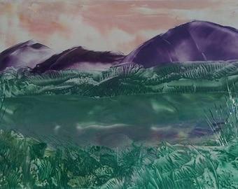 Encaustic Landscape Art Print