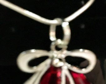 Christmas bell necklace
