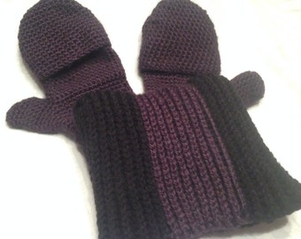 Men's Fingerless Mittens with Matching hat