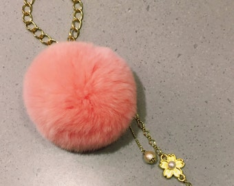 phone strap/bag accessories/毛毛球吊飾
