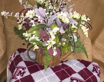 A&M flower arrangement  silk flowers