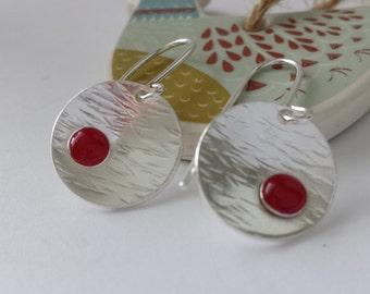Sterling silver resin earrings