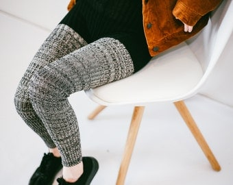 Black&White Handmade RIBBED LEGGINGS: Women, High-Waist, Spring, Vegan, Super Stretchy, Soft and Durable, Handmade, Plus Sizes, See-Through