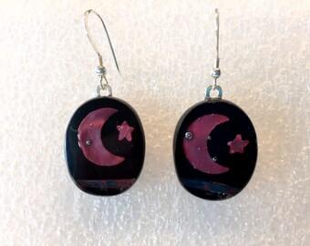 fused glass earrings E70