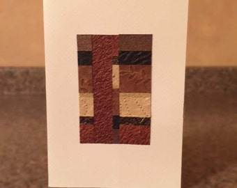 Handmade Abstract Collage Earthtone Card