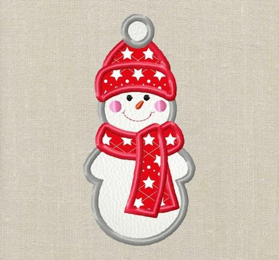 Bogo free snowman christmas applique design by