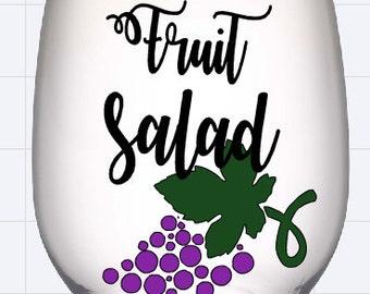 Fruit Salad Wine Glass