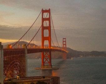 San Francisco Golden Gate Bridge Dusk 1
