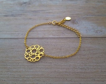 Bubbles Bracelet, gold plated, hand made