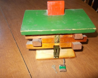 vintage Log Cabin Bank