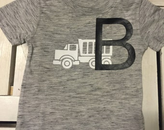 Personalized Toddler Dump Truck Tee