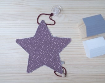 Doudou-Chupetero-Baby Teether | Lilac & Stars