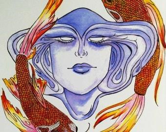 Lady Koi (Art Print)