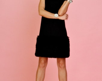 Small black fur dress by MODNELI