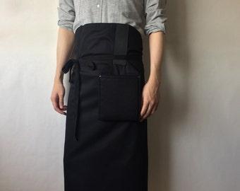 Stylish and innovative apron for him HASHIRA-JYU (black)