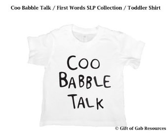Coo Babble Talk hand painted SLP Language Collection - Hipster Shirt, Boho Shirt, Smart Shirt, Modern Shirt, Adjective Shirt, educational
